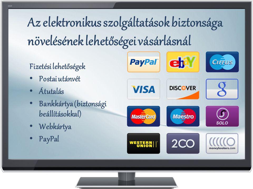Az elektronikus szolgáltatások biztonsága növelésének lehetőségei vásárlásnál