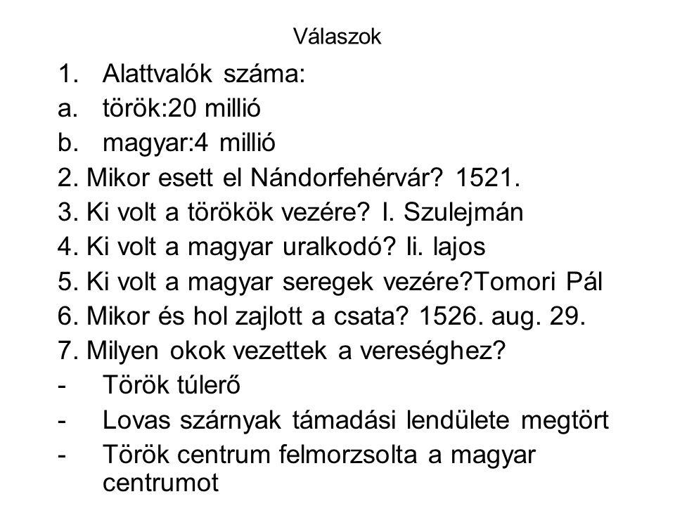 2. Mikor esett el Nándorfehérvár 1521.