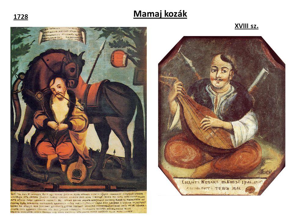 Mamaj kozák 1728 XVIII sz.