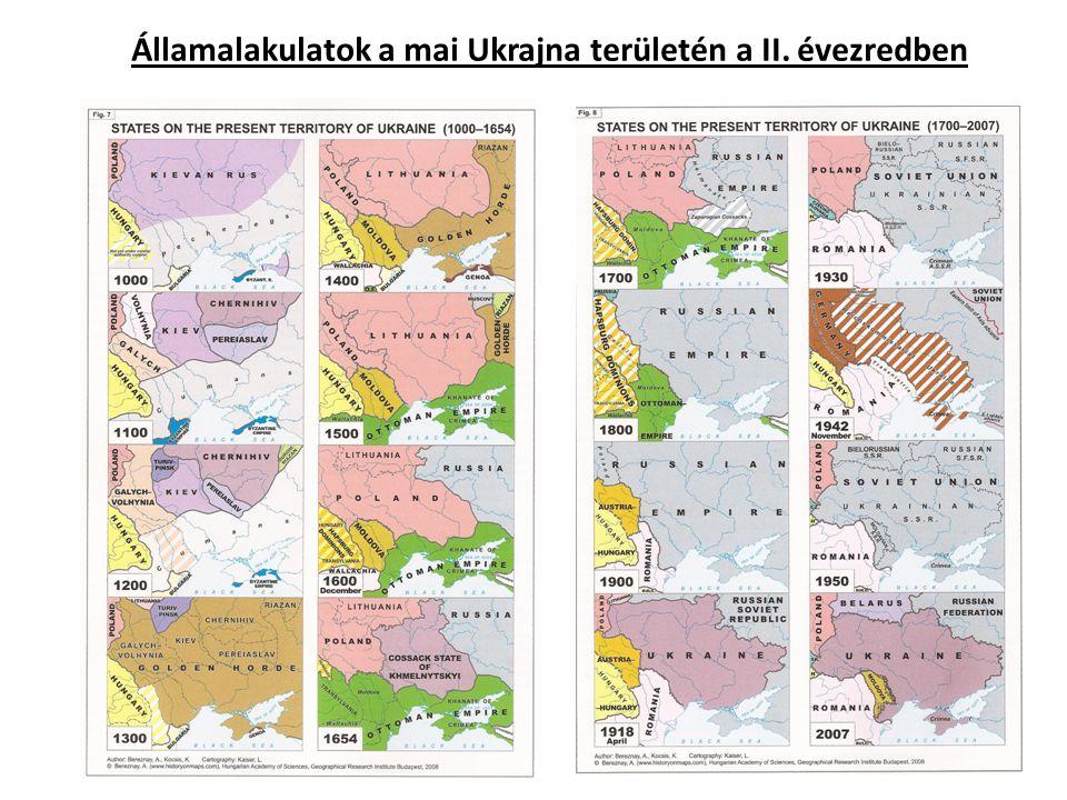 Államalakulatok a mai Ukrajna területén a II. évezredben