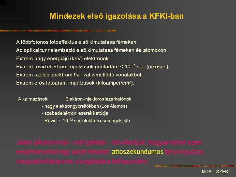 Mindezek első igazolása a KFKI-ban