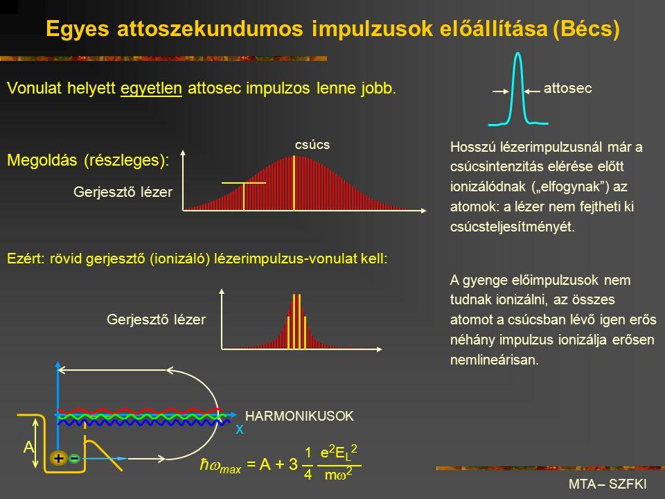 Egyes attoszekundumos impulzusok előállítása (Bécs)