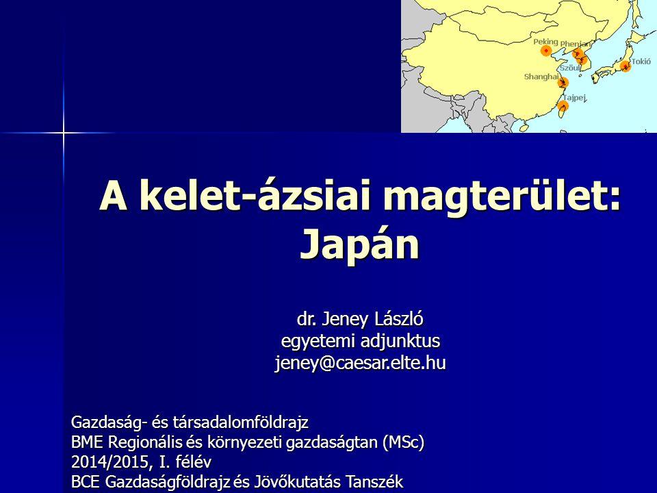 A kelet-ázsiai magterület: Japán