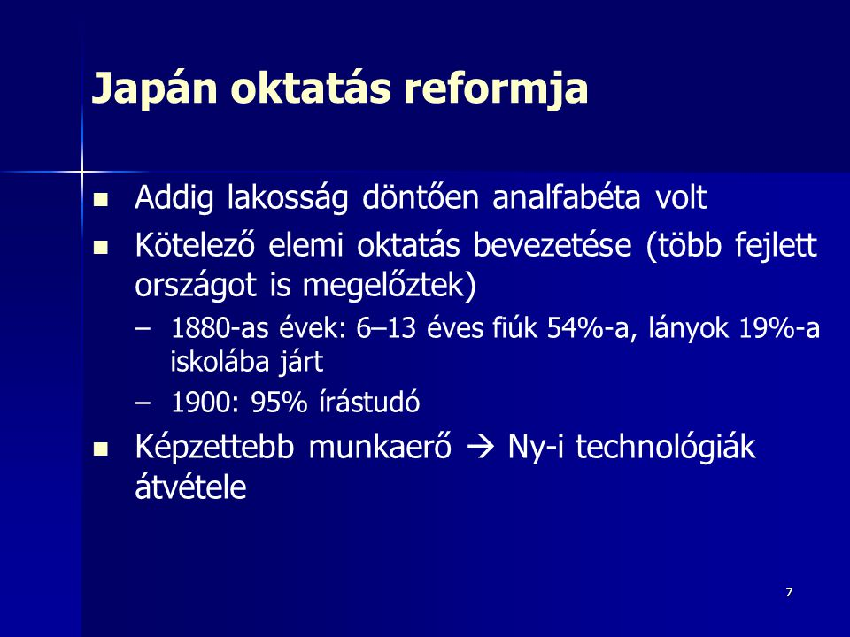 Japán oktatás reformja