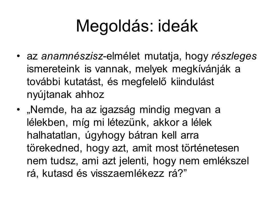 Megoldás: ideák