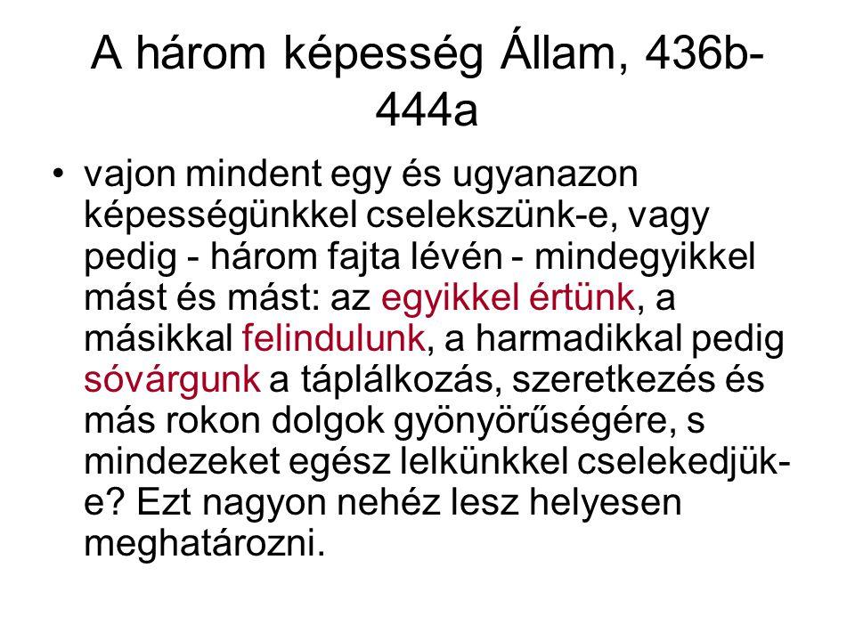 A három képesség Állam, 436b-444a