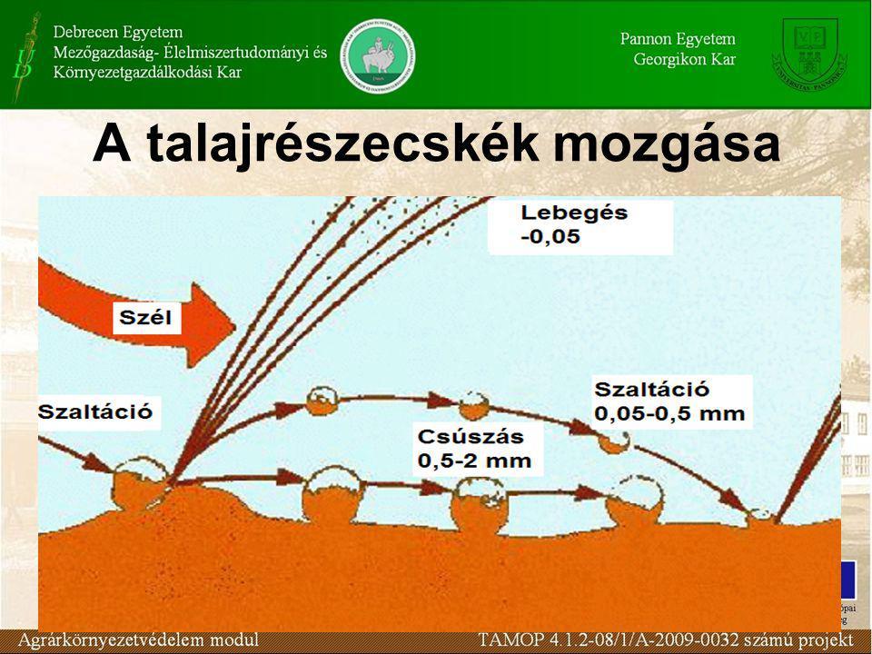 A talajrészecskék mozgása