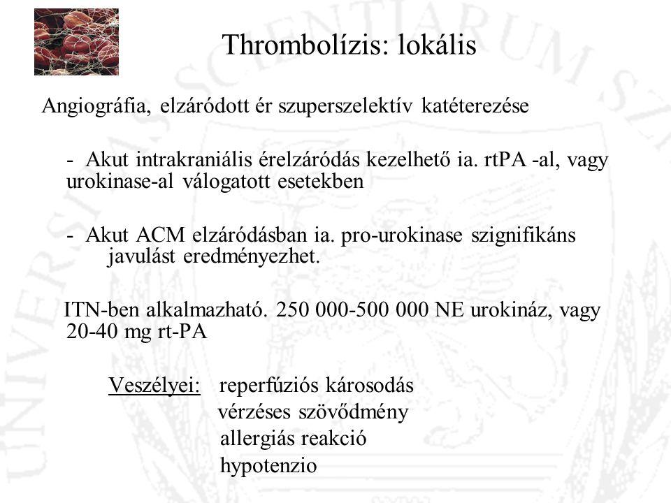 Thrombolízis: lokális