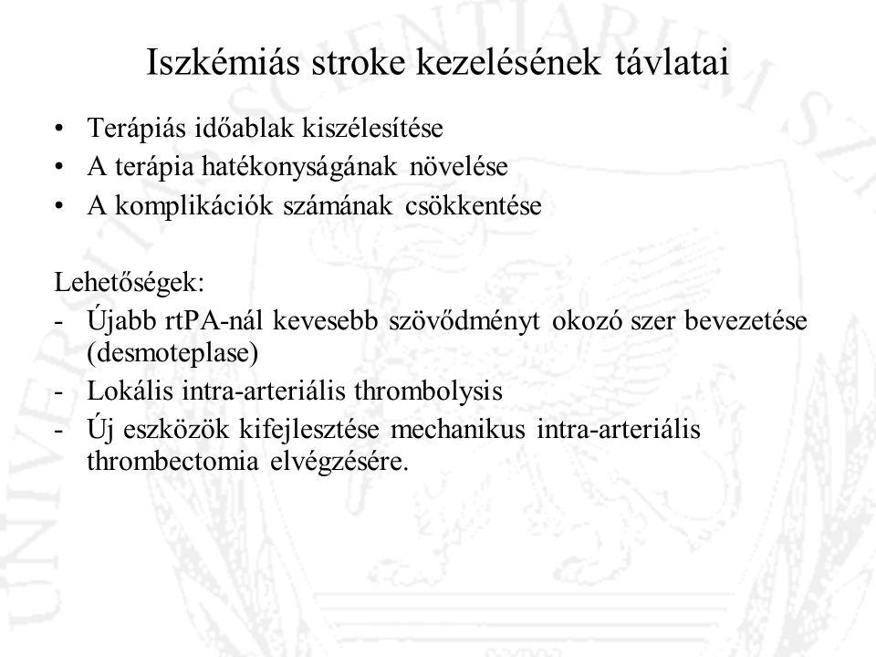 Iszkémiás stroke kezelésének távlatai
