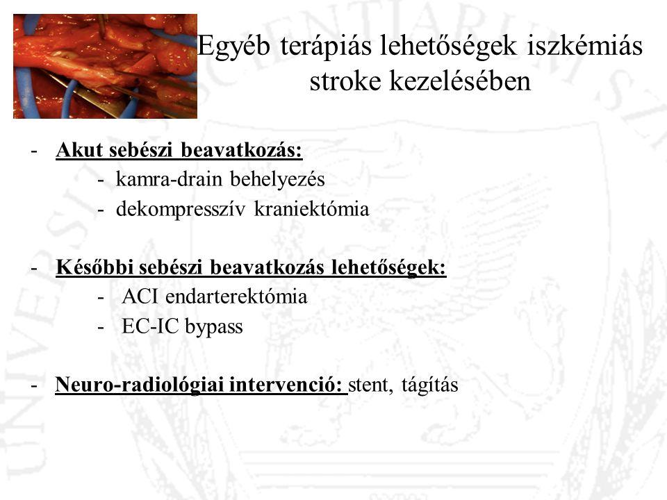 Egyéb terápiás lehetőségek iszkémiás stroke kezelésében