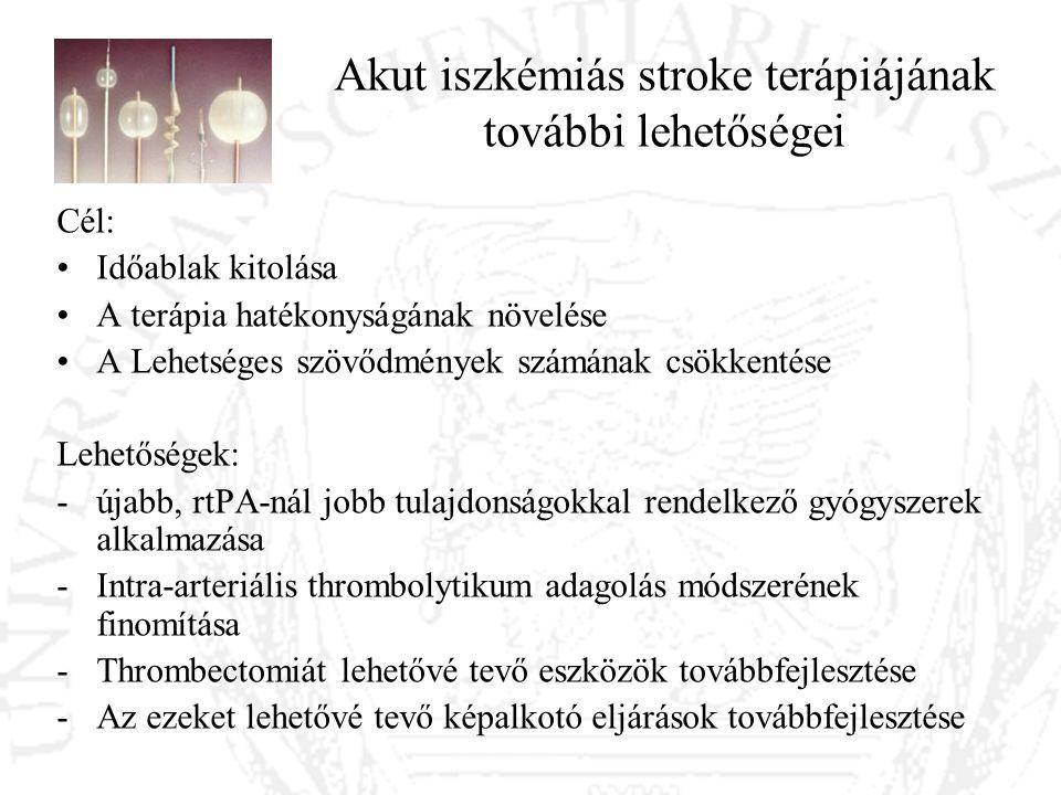 Akut iszkémiás stroke terápiájának további lehetőségei