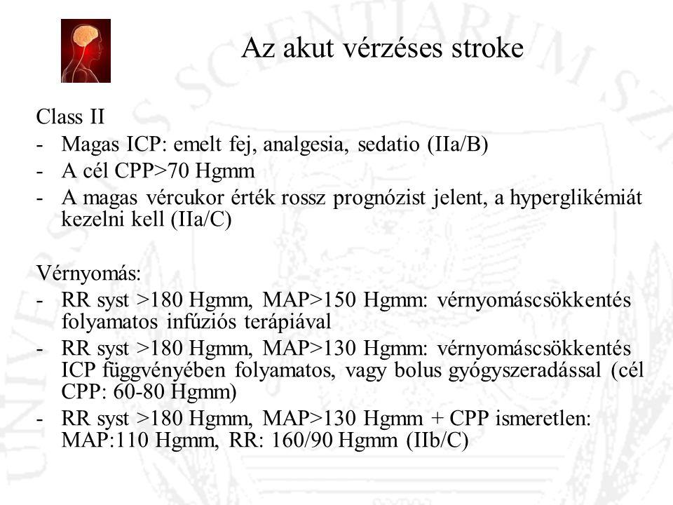 Az akut vérzéses stroke