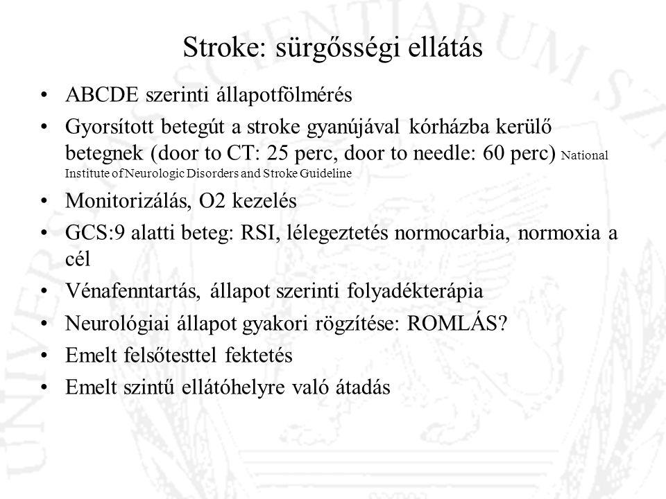 Stroke: sürgősségi ellátás