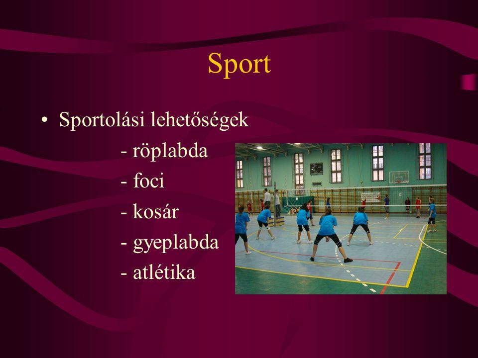 Sport Sportolási lehetőségek - röplabda - foci - kosár - gyeplabda