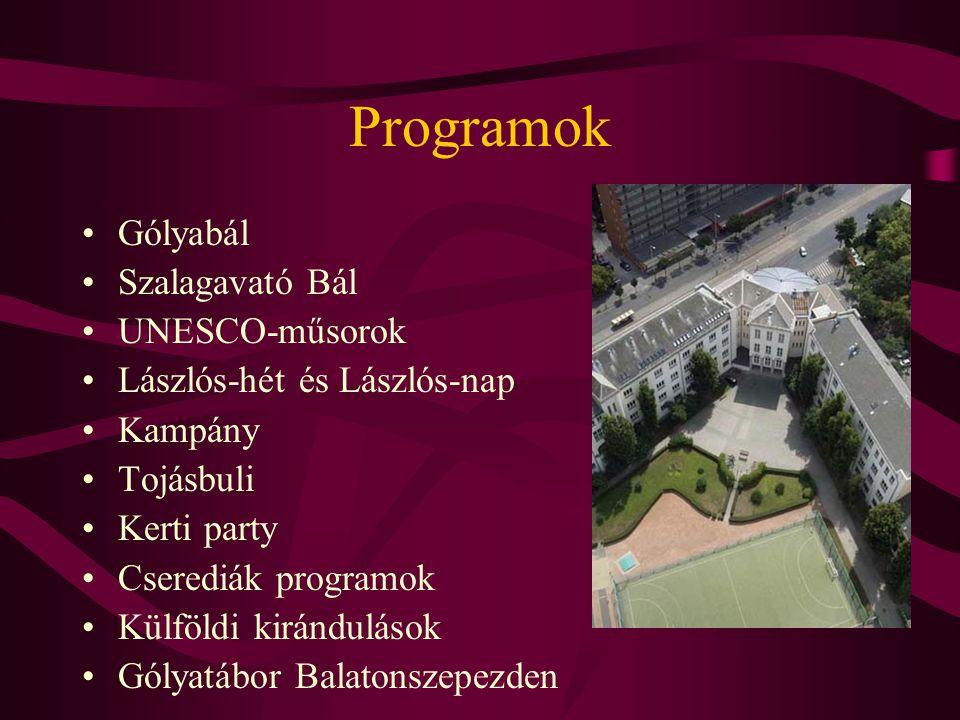 Programok Gólyabál Szalagavató Bál UNESCO-műsorok