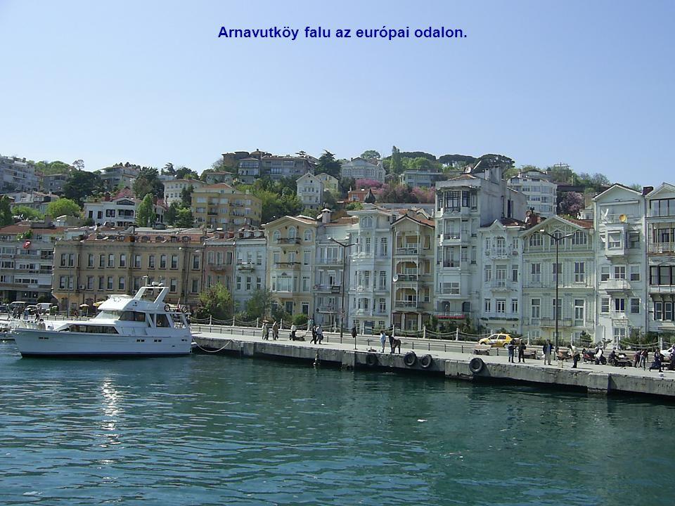 Arnavutköy falu az európai odalon.