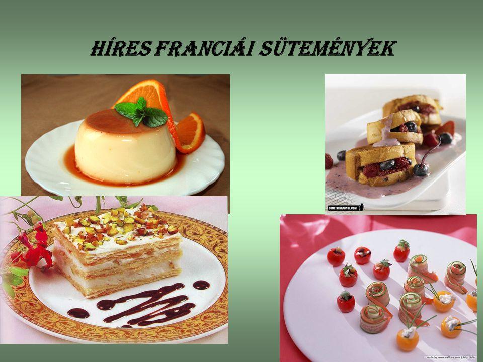 Híres franciái Sütemények