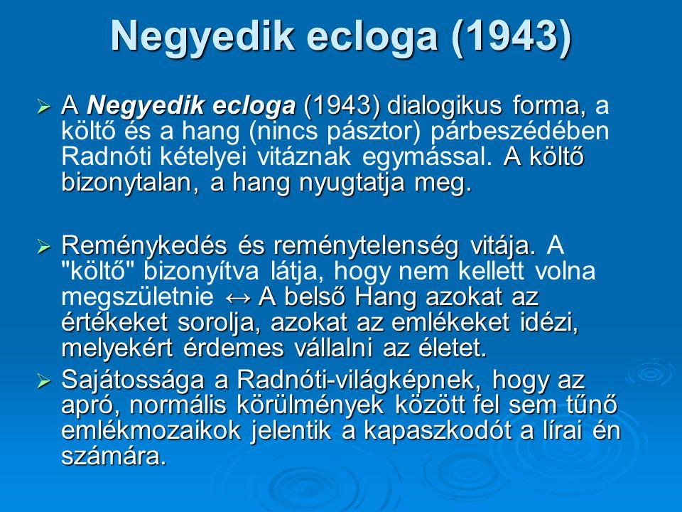 Negyedik ecloga (1943)