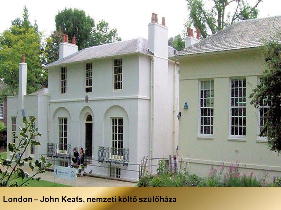 London – John Keats, nemzeti költő szülőháza