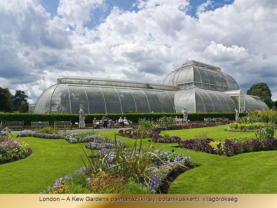 London – A Kew Gardens pálmaház (királyi botanikus kert), világörökség