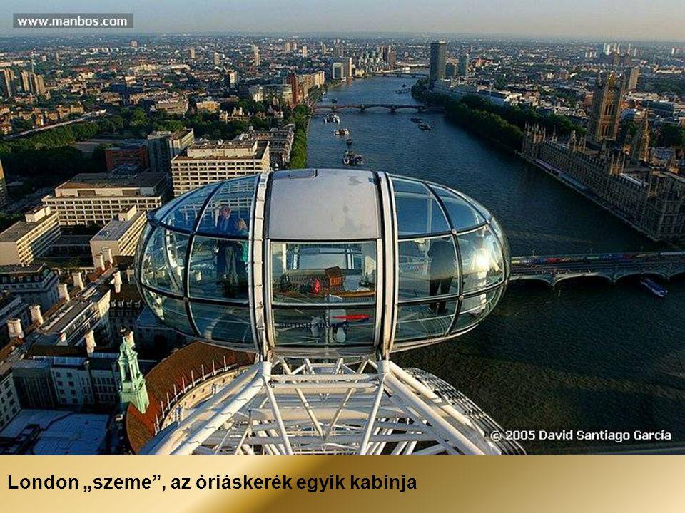 """London """"szeme , az óriáskerék egyik kabinja"""
