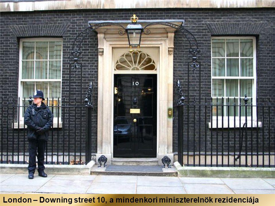 London – Downing street 10, a mindenkori miniszterelnök rezidenciája
