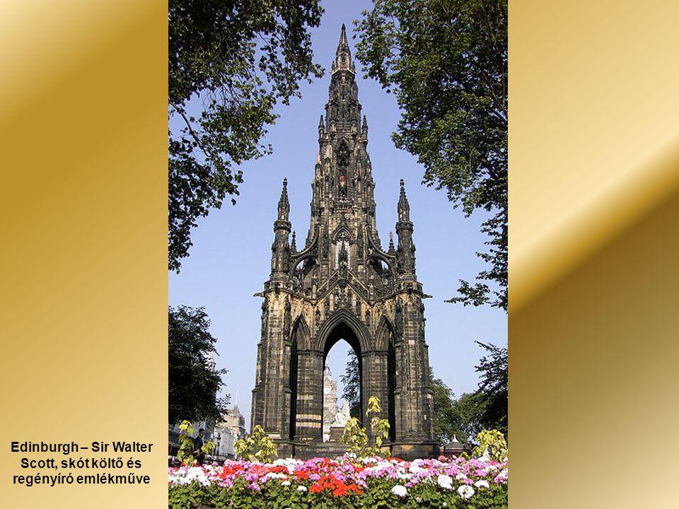 Edinburgh – Sir Walter Scott, skót költő és regényíró emlékműve