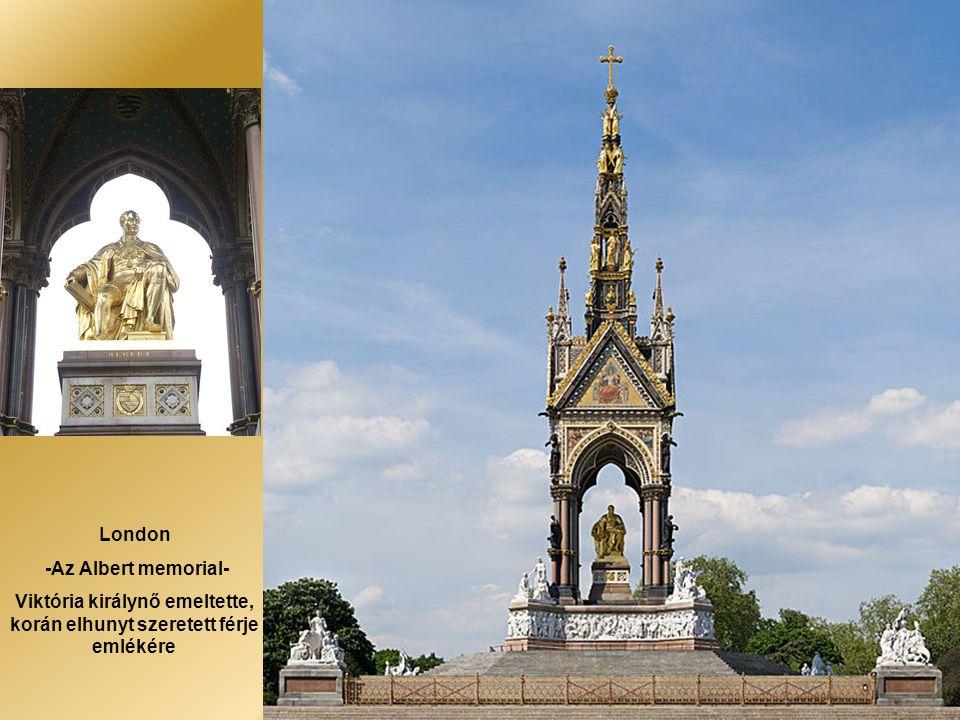 Viktória királynő emeltette, korán elhunyt szeretett férje emlékére