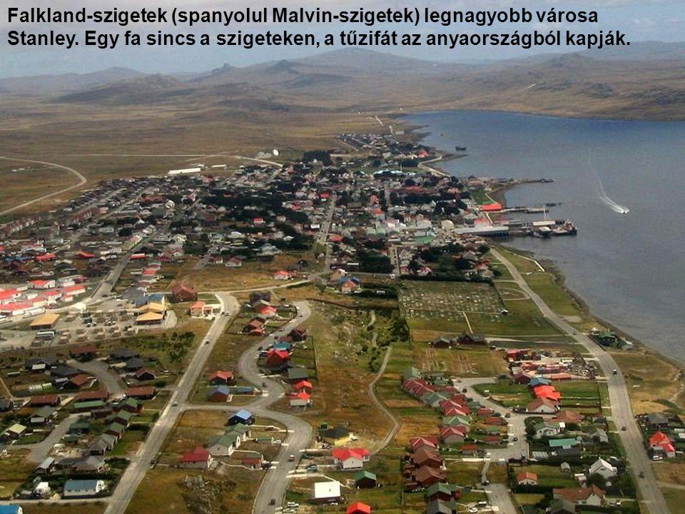Falkland-szigetek (spanyolul Malvin-szigetek) legnagyobb városa Stanley.
