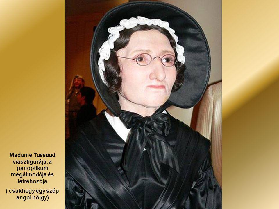Madame Tussaud viaszfigurája, a panoptikum megálmodója és létrehozója