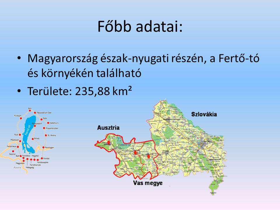 Főbb adatai: Magyarország észak-nyugati részén, a Fertő-tó és környékén található.