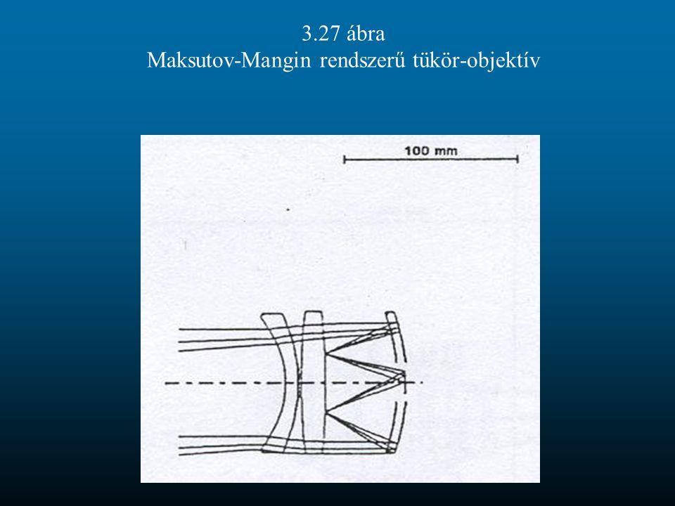 3.27 ábra Maksutov-Mangin rendszerű tükör-objektív