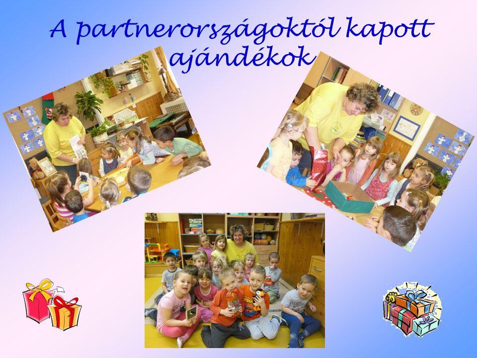 A partnerországoktól kapott ajándékok