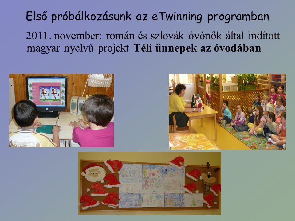 Első próbálkozásunk az eTwinning programban