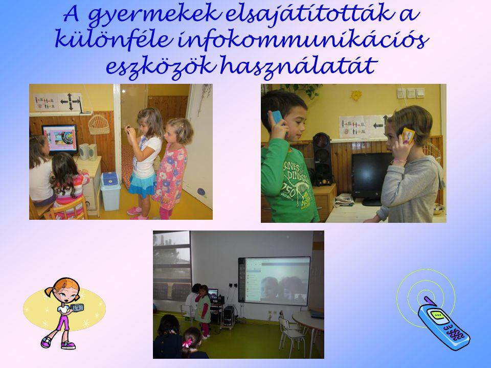 A gyermekek elsajátították a különféle infokommunikációs eszközök használatát