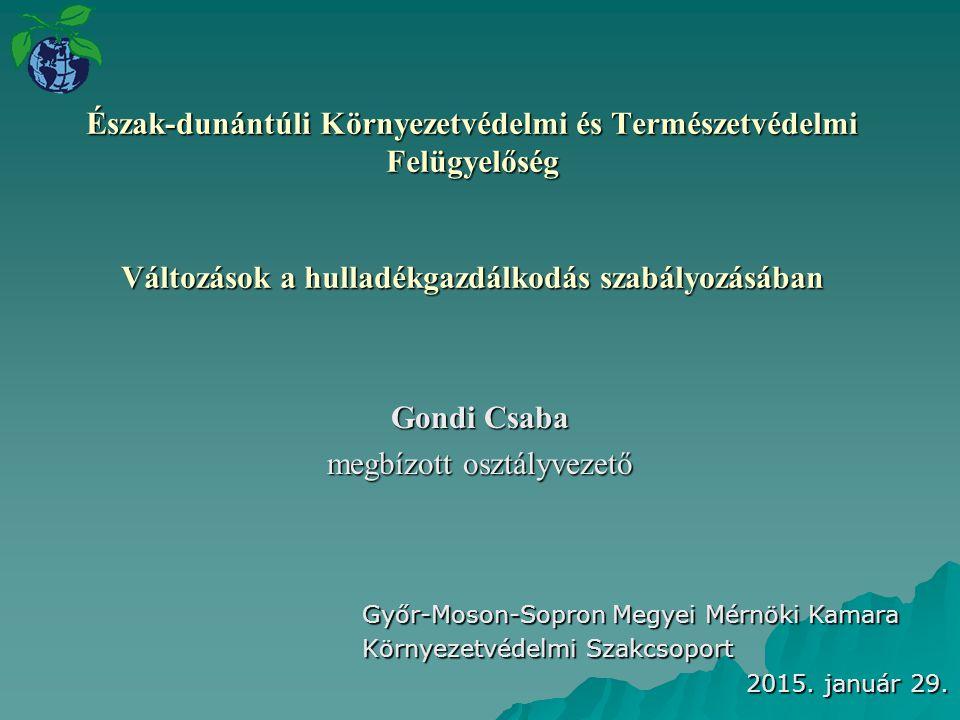 Gondi Csaba megbízott osztályvezető