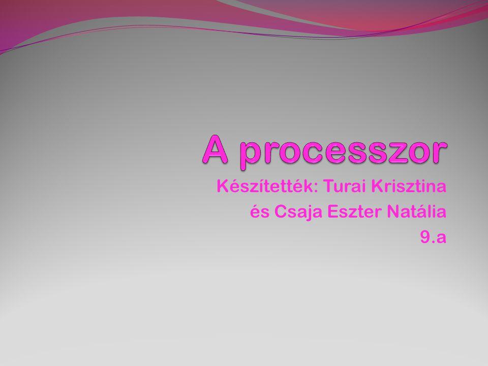 Készítették: Turai Krisztina és Csaja Eszter Natália 9.a
