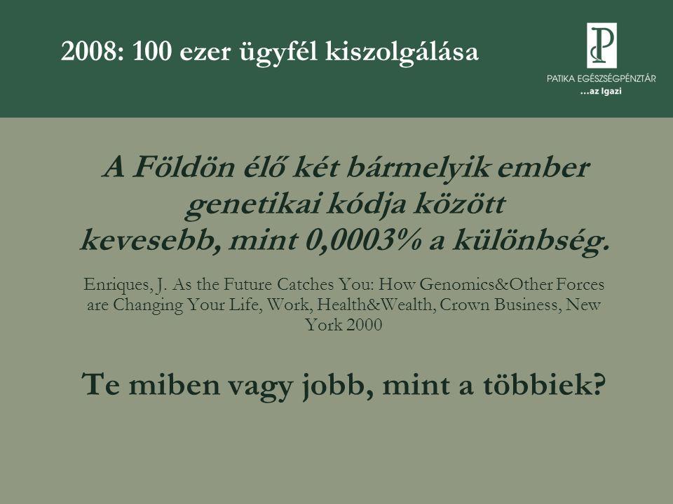 2008: 100 ezer ügyfél kiszolgálása