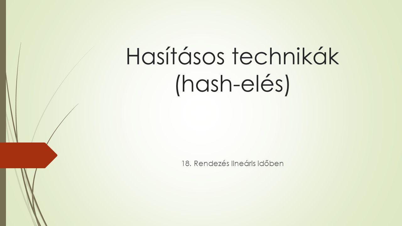 Hasításos technikák (hash-elés)