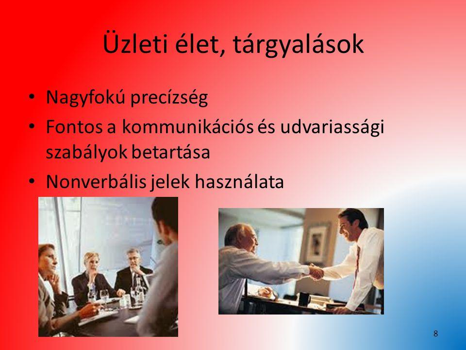 Üzleti élet, tárgyalások