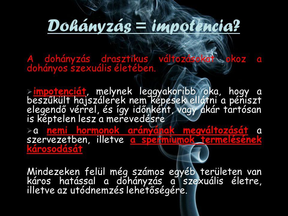 Dohányzás = impotencia