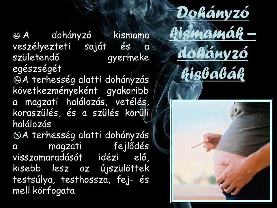 Dohányzó kismamák – dohányzó kisbabák