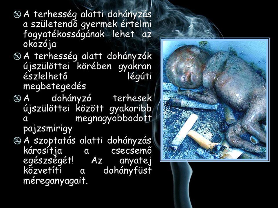 A terhesség alatti dohányzás a születendő gyermek értelmi fogyatékosságának lehet az okozója