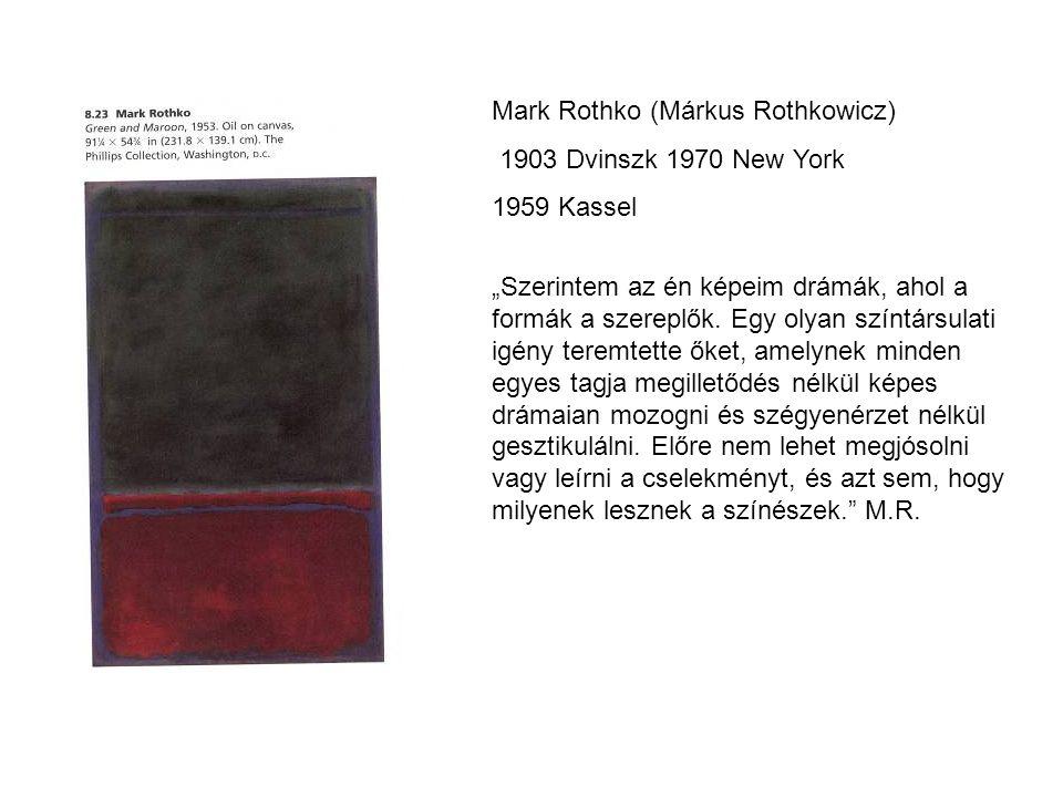 Mark Rothko (Márkus Rothkowicz)