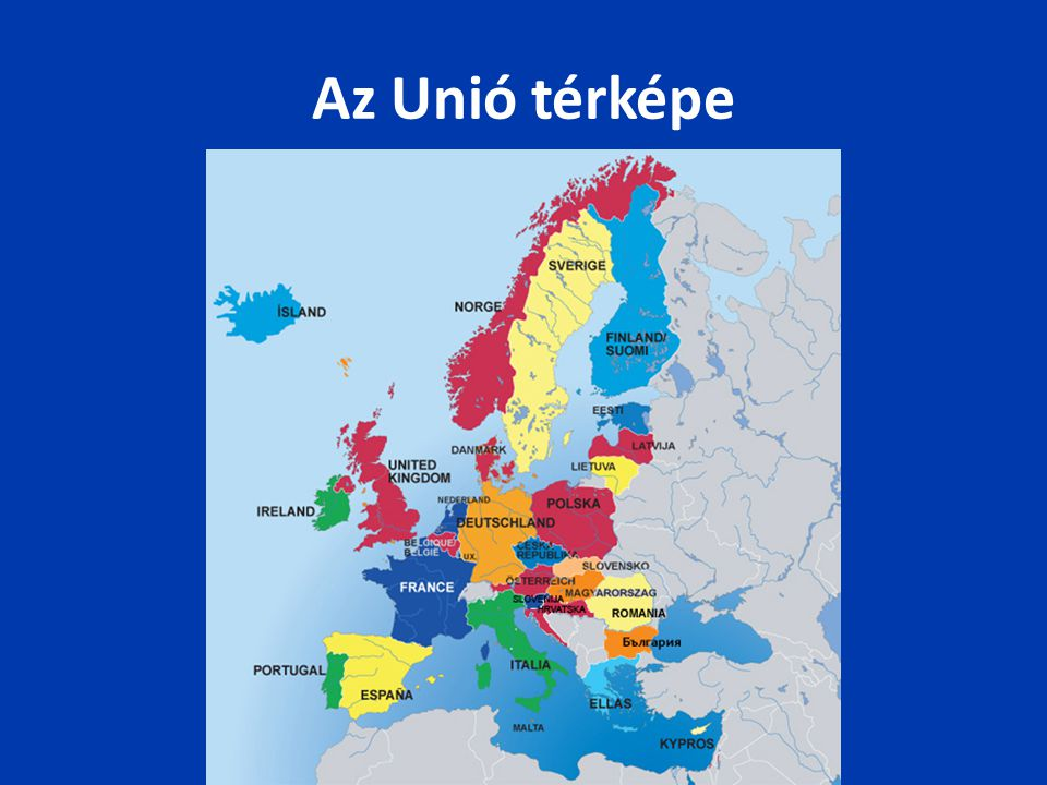 Az Unió térképe
