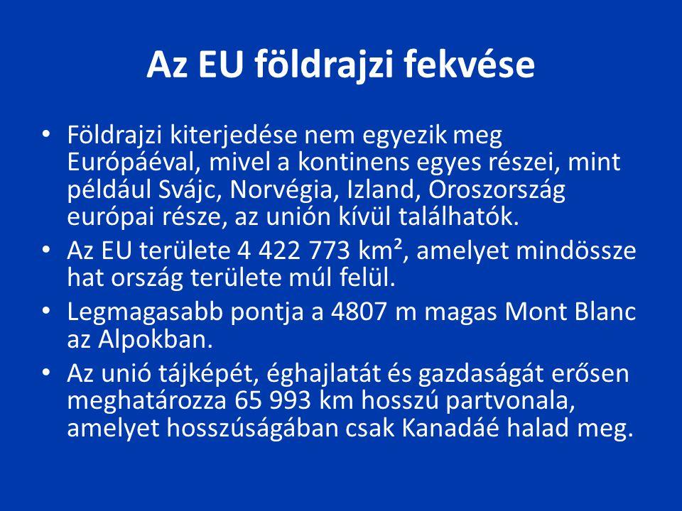 Az EU földrajzi fekvése