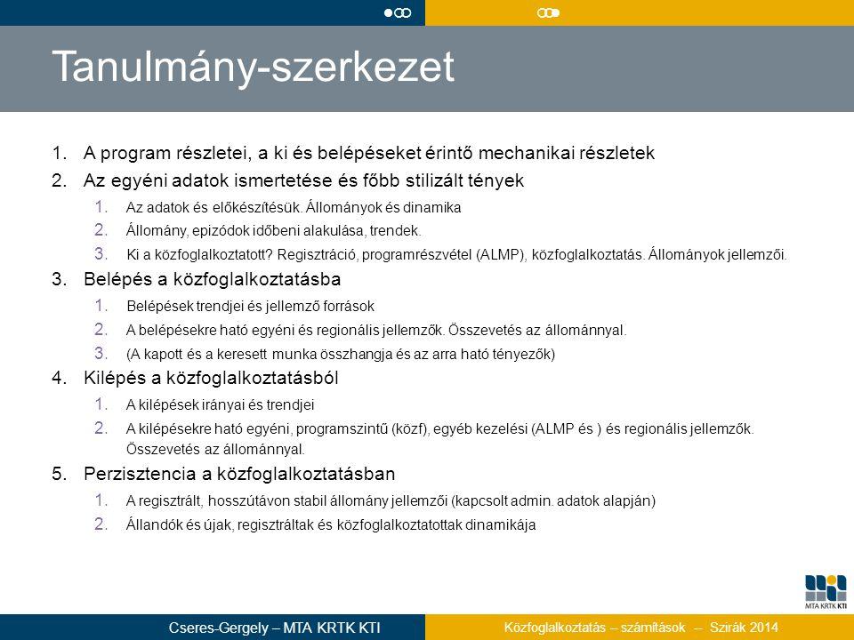l¡¡ ¡¡l. Tanulmány-szerkezet. A program részletei, a ki és belépéseket érintő mechanikai részletek.