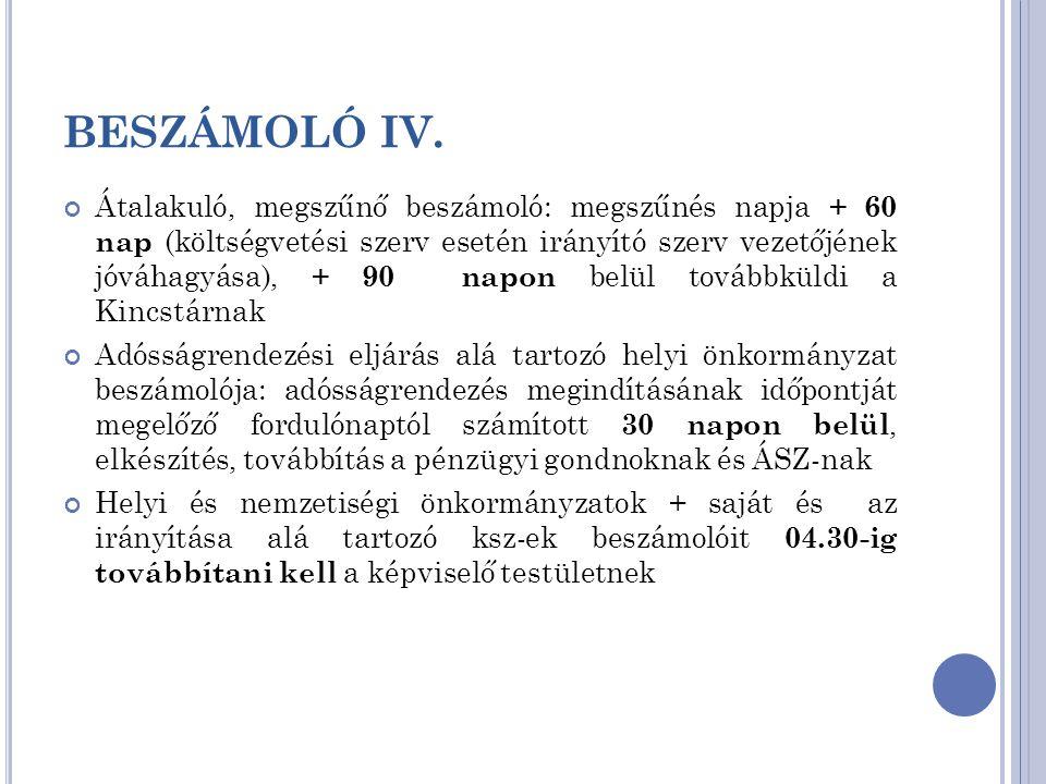 BESZÁMOLÓ IV.