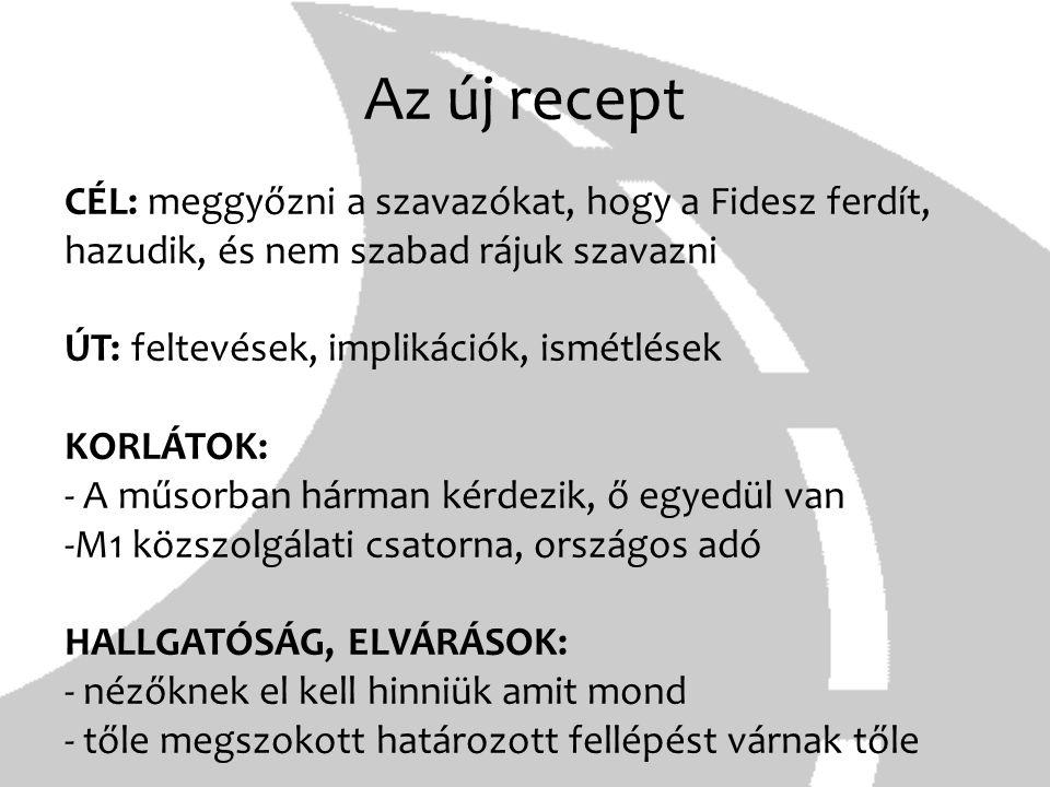 Az új recept CÉL: meggyőzni a szavazókat, hogy a Fidesz ferdít, hazudik, és nem szabad rájuk szavazni.