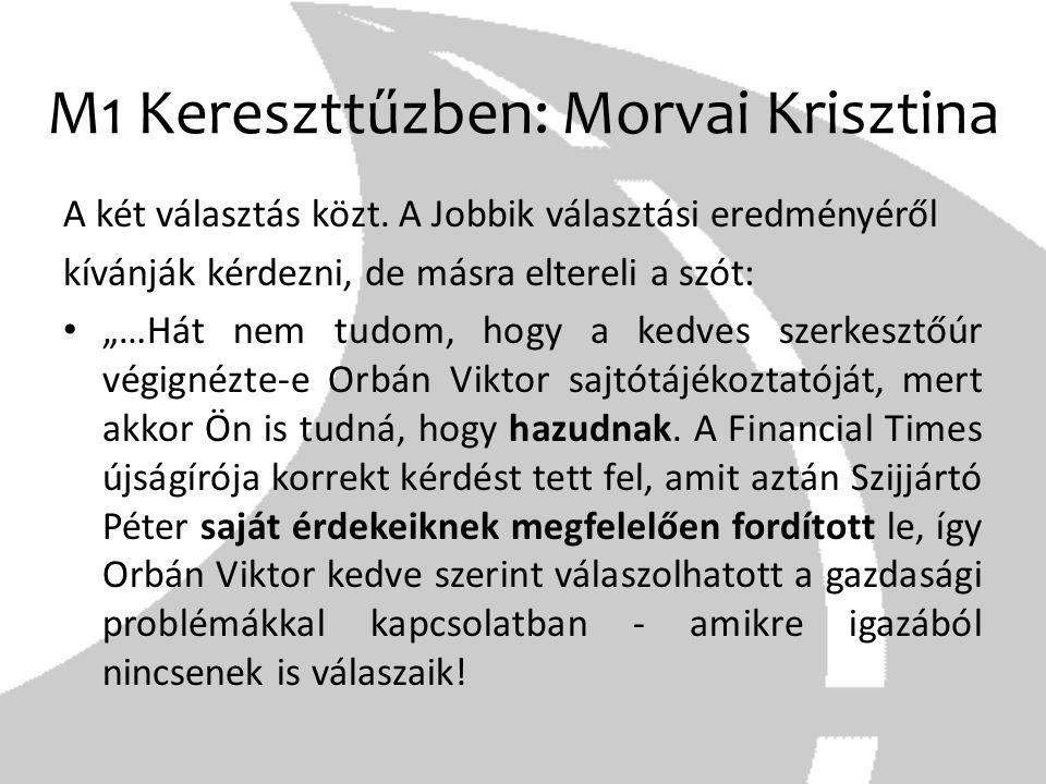 M1 Kereszttűzben: Morvai Krisztina